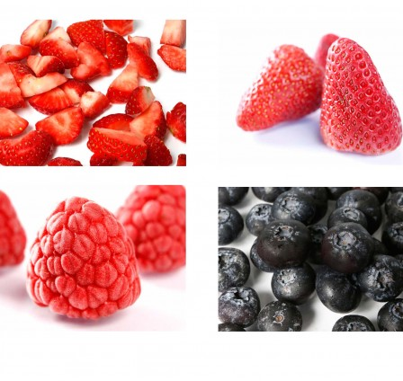 Energy efficiency for Processing different types of Berries